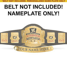 Personalized Nameplate for Kids WWE Cruiserweight Championship Replica Belt