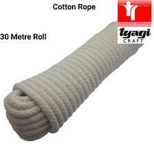 16mm corda naturale di cotone intrecciati giardino Craft spessa ROTOLO Recinzione Cane Borsa Maniglia