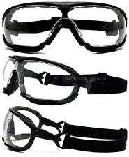 Radians Dagger Clear Anti Fog Lens Hybrid Safety Glasses Padded Goggles Z87.1