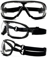 Radians Dagger Clear Anti Fog Lens Hybrid Safety Glasses Padded Goggles Z87.1