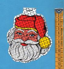ADESIVO/STICKER PRISMATICO (31)- BABBO NATALE - vintage - cm.10,5X12,5