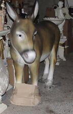 Esel Grau Figur Tierfigur Gartenfigur Lebensgroß Deko Garten Dekoration NEU