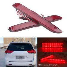 Rear Bumper Reflector Fog Light Lamp Red Lens for Toyota Sienna XL30 2010-2017