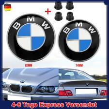 BMW 74MM + 82MM Kofferraum Motorhaube Kofferraum Emblem + 2X Gummitüllen