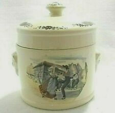 """H. Loux Sarrguemines Obernai  France Tobacco Humidor with Lid Canister  4"""""""