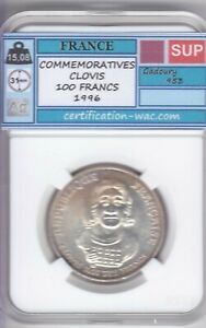100 FRANCS COMMEMORATIVES CLOVIS 1996