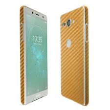 Skinomi Gold Carbon Fiber Skin & Screen Protector for Sony Xperia XZ2 Compact