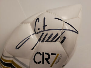 Cristiano Ronaldo Signed White CR7 Museum Ball