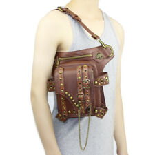 Rivets PU Leather Punk Unisex Belt Waist Fanny Leg Drop Steampunk Bags