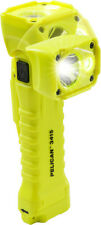 QTY 12 Pelican Yellow 3415 Right Angle Flashlight with plastic clip.