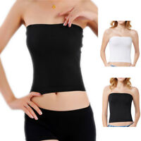 Women Summer Modal Tube Tops Stretch Strapless Prevent Wrapped Chest Bust Tops