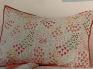 Pillowfort Fetching Florals Pink Multi Standard Quilted Sham New