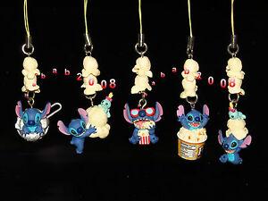 Takara Tomy Disney Lilo Stitch Popcorn strap gashapon figure (full set of 5)