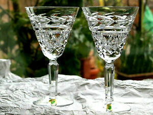 Waterford Crystal Glandore Goblet Glass Pair Brand New Very Rare