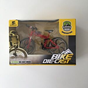 Mountain Matel Bike 1:10 Scale Diecast Model Bicycle Cross Mountain Replica, Red