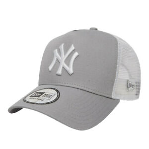 New Era Men's New York Yankees Clean A Frame Trucker Cap - Grey BNWT