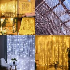 Led Christmas Garland Curtain String Light Party Patio Window Decor Fairy Lights
