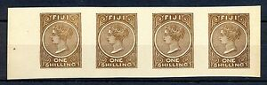 FIJI  FOURNIER FORGERY 4 x 1 SHILLING  NO GUM  MARKED FAUX   @2