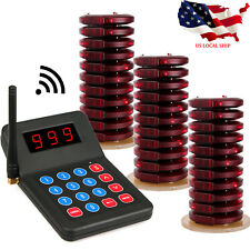 Restaurant equipment Service Wireless PagingSystem Keypad+30Coaster Pager 433MHz