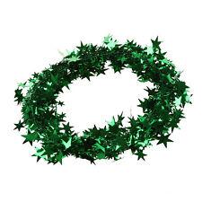 23 Feet Green Star Tinsel Garland Christmas Decoration N4F1 M2Y5