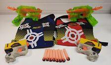Bundle of 2 x Nerf N-Strike Elite XD Firestrike - 2 x Reflex + Vests & Darts. X4