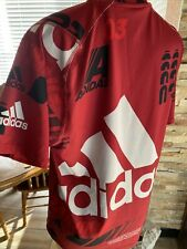Adidas Graphic Men's Red Vtg Logo Climalite T-Shirt Med Ppw1