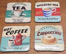 MARTIN Wiscombe Set di 4 Sottobicchieri Bevande Calde-caffè-tè-Cappuccino