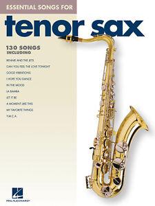 Essential Songs for Tenor Sax Solo Saxophone Sheet Music Hal Leonard Book
