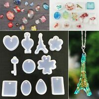 DIY Transparent Silicone Pendant Molds Making Tools Resin Craft Jewelry