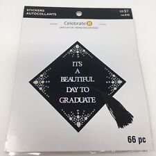 Its A Beautiful Day To Graduate Class of Graduation Cap Crystal Stickers Quote