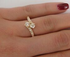 """14K YELLOW GOLD 0.60 CT """"EVER US"""" DESIGN FRIENDSHIP ANNIVERSARY RING, SIZE 6"""