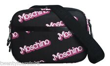 NWT $800 Moschino Capsule Collection Barbie Logo Medium Shoulder Bag in Black