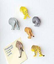 Set of 6 Animal Butt Magnets Leopard Giraffe Lion Tiger Hippo Rhino Kitchen