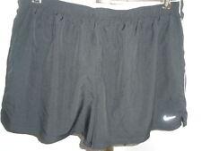 Womens Black Nike Dri-Fit Running Shorts Sz Xl (14/16)