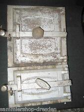 14019 Ofentür Paar Rahmen Jugendstil oven door 1900 Innentür art nouveau pair