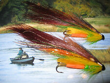 2 V Fly 1/2 Inch Alta Highlander Templedog Salmon Tube Flies & Trebles