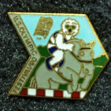 Rare Olympic Pin!  US Olympic Festival 1990 - Equestrian - Mascot -Good cond.