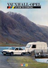 Vauxhall Opel Towing 1986 UK Market Brochure Nova Astra Cavalier Manta Carlton