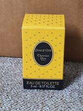 Christian Dior DOLCE VITA Eau De Toilette 5ml Miniature Bottle In Original Box