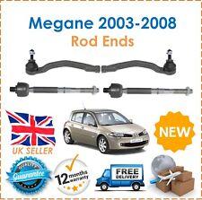 For Renault Megane 03-08 2x Inner & 2x Outer Steering Track Rack Tie Rod End