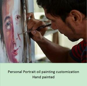 Portrait oil painting customization Real Photo Hand-painted on canvas Unframed