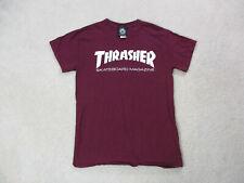 Thrasher Magazine Shirt Adult Small Red White Skater Skateboard Streetwear Men *