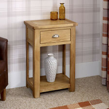 Manor Oak 1 Drawer Hall Telephone Console Table - Side Shelf - BRAND NEW- KT19