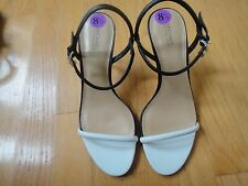 """Micheal Kors  Heels Sandals for Woman : Size-8.5: Black/White: Heels 3"""" Up"""