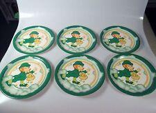 6 St. Patrick's Day Leprechaun Paper Plates Classroom Bulletin Board Decorations