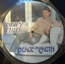 """SNOWY WHITE - Peace On Earth 7"""" Vinyl *PICTURE DISC* *MINT*"""