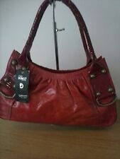 Patent red elegant handbag by Dericci 100% real leather