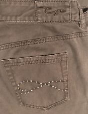 women's CHICO Brown Jeans- Embellished Pockets-size 2 S 1095]