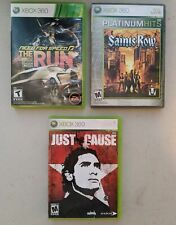 Need For Speed The Run + Saints Row + Just Cause (Microsoft Xbox 360) 3 Game Lot