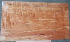 Ambrosia Spalted Maple #5427 ONE PC. Electric Bass Guitar top 24+ x 13 1/2 x 1/2